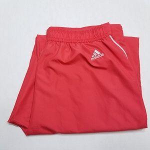 Adidas workout pants Windbreaker Medium red
